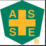 American Society of Safety Engineers (ASSE) A white stole with a green and gold ASSE logo