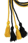Beta Sigma Kappa BLACK AND GOLD cord