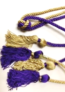 Delta Mu Delta  purple and gold cord