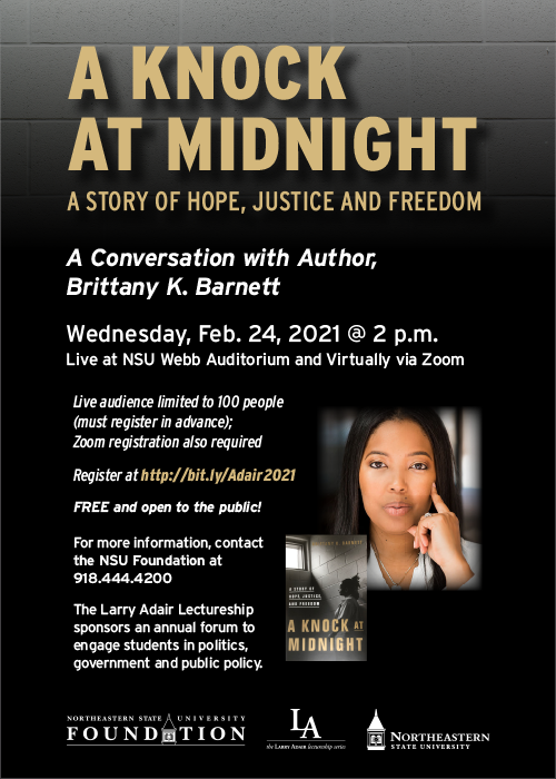Award-winning attorney and criminal justice reform advocate to headline 2021 Larry Adair Lectureship thumbnail