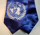 Model United Nations A royal blue stole with a white UN symbol