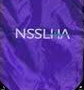 NSU Student Speech Language Hearing Association A purple stole with white National Student Speech Language Hearing Association logo