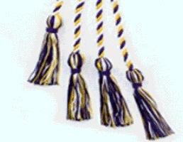 Phi Upsilon Omicron yellow, white and purple cord