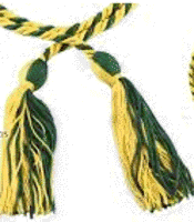 Rho Theta Sigma green and gold cord