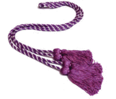 Sigma Theta Tau purple and white cord