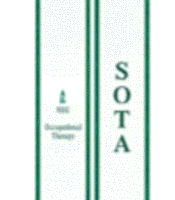 Student Occupational Therapy Association A white stole with green border NSU clocktower logo