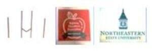 Aspiring Educators Association White stole with red piping, Clocktower logo, AEA logo