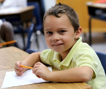 elementary student learning math at nsu
