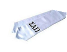 National Society for Leadership and Success Silver stole, Sigma Alpha Pi Greek letters in black