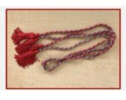 Pi Kappa Delta Red and grey braided cord