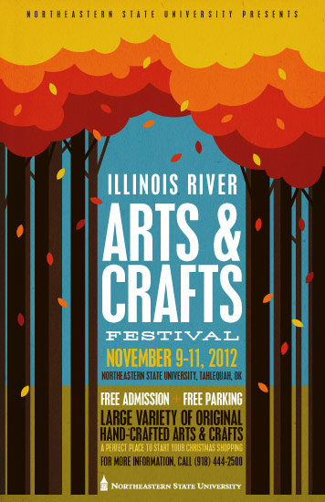 Illinois River Arts & Crafts festival. November 9-11, 2012. Free Admission, Free Parking, Large Variety of Original Hand-Crafted Arts & Crafts.