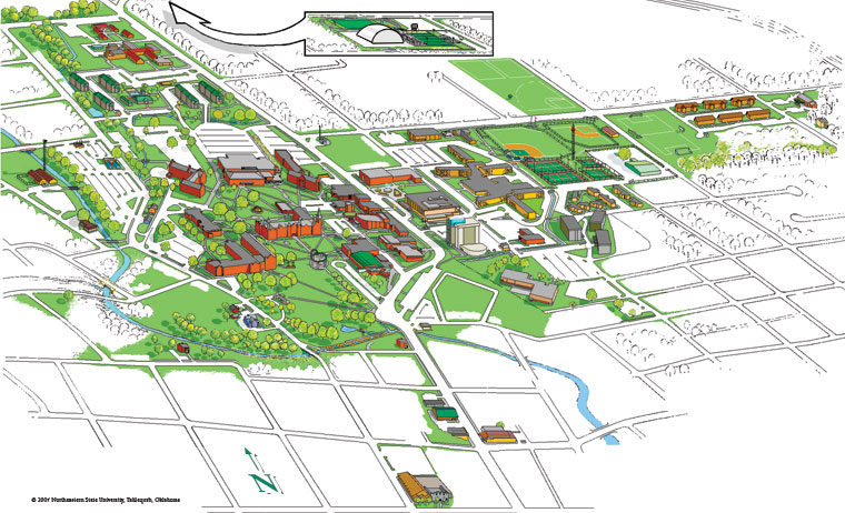 Image of Tahlequah Campus Map