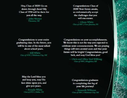 congratulatory statements from alumni to spring 2020 graduates number 14