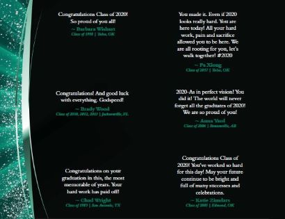 congratulatory statements from alumni to spring 2020 graduates number 15
