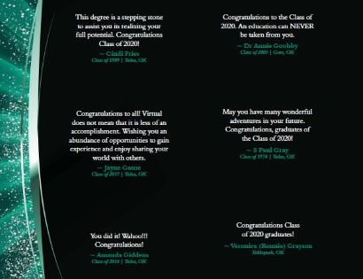congratulatory statements from alumni to spring 2020 graduates number 5