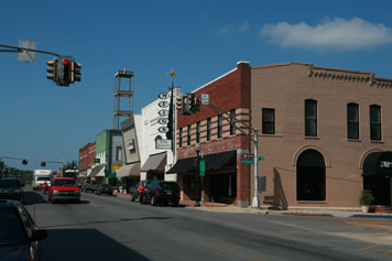 Image of downtown Tahlequah.